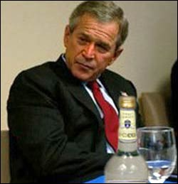Good thing Bush isn't drinking Grey Goose. It would have been uncanny.