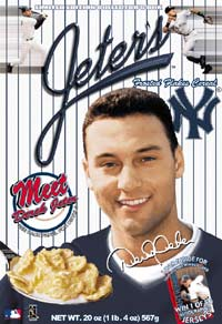 This can't be real can it? Come on New York fans, verify this for us; is Derek Jeter working on a post-baseball career in corn flakes?